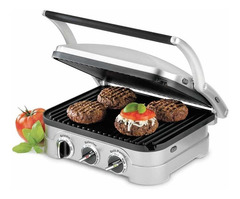 Grill parrilla eléctrica CUISINART GR40AR. Con tapa regulable. 1600W