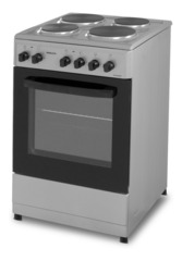 Cocina eléctrica 50 cm. PHILCO PHCH050P HOTPLATE. Gris Plata.