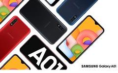 """Celular libre 5,7"""" SAMSUNG A01 SM-A015M/DS. OctaCore. 2GB Memoria RAM. 32GB Memoria Interna. Cámara dual. Android 10"""