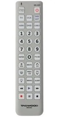 Control remoto universal TAGWOOD HRCU01. Para TV, VCR, SAT, Cable, DVD y CD.