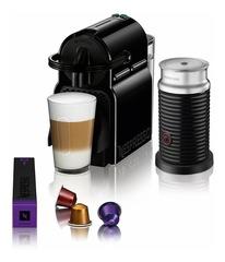 Combo NESPRESSO A3D40 con cafetera a cápsulas INISSIA D40 Black + espumador de leche AEROCCINO 3