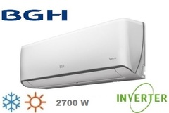Aire acondicionado split inverter 2700W BGH BSI26WCCR SILENT AIR. Frío Calor. EE A
