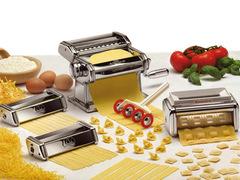 Set fábrica de pastas manual Marcato MULTIPAST. Acero Cromado. 6 tipos de pastas. Origen Italia