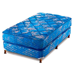 Conjunto de colchón de resortes y sommier  PIERO CONTINENTAL 80x190 cm. Ultra Coil System. Tela Jackard matelasse.