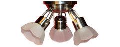 Equipo Spots de 3 luces NOVO VENT EXA.ACERO PULIDO 3L con vidrio exagonal.