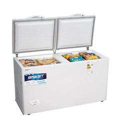 Freezer horizontal 400 lts.  BRIKET FR-4500 ST. Blanco. 2 puertas. Función dual. EE A