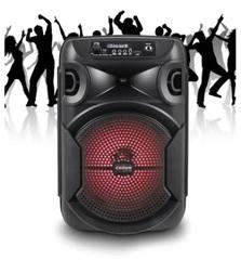 "Parlante inalámbrico 8"" CROWN MUSTANG DJS-820BT. 2 vías. Bluetooth. USB / Luces LED / FM. Batería recargable. 2500W PMPO."