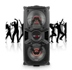 "Parlante inalámbrico 2 x 6,5"" CROWN MUSTANG DJS-1000BT. 2 vías. Bluetooth. USB / Luces LED / FM. Batería recargable. 3000W PMPO."