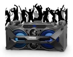 "Sistema de audio inalámbrico 2 x 4"" CROWN MUSTANG CMA-402BT.  4 vías. Bluetooth / USB / Luces Led / Karaoke / FM. 7000W PMPO."