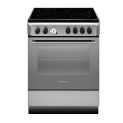 Cocina eléctrica vitrocerámica 60 cm. ARISTON A6V530XEX. Acero inoxidable. Plancha con 4 zonas de cocción.