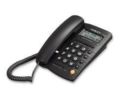 Teléfono con cable NOBLEX NCT300. De mesa / pared. Panel LCD. ID. Manos libres.