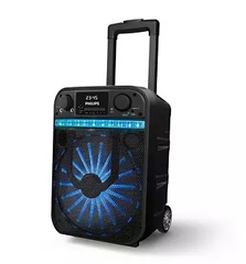 "Parlante inalámbrico 10"" PHILIPS TANX20/77. Bluetooth. USB. Luces led. Karaoke. 40W"