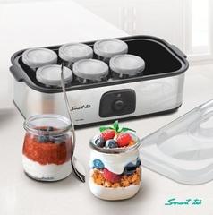 Yogurtera eléctrica 1,4 lts. SMART TEK YM800. 8 frascos de vidrio. 20W