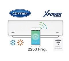 Aire acondicionado split  2253 Frig. INVERTER CARRIER HVA0901F XPOWER SMART.  Frío Calor.  EE A