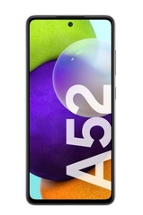 """Celular libre 6,3"""" FHD+ SAMSUNG GALAXY A52 SM-A525MZ. OctaCore. 6GB memoria RAM. 128GB memoria interna. Cámara cuádruple. Android."""