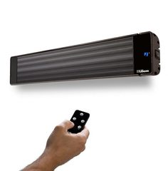 Calefactor eléctrico radiante LILIANA CPA2400. Resistencia de acero inoxidable. Comando wifi. Apto uso en exterior. 800/1600/2400W