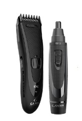 Pack corta cabello inalámbrico GAMA T744 TITANIUM. Clipper + Trimmer para vello de nariz y orejas.