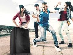 Parlante portátil inalámbrico LG RM1 XBOOM. Bluetooth. Batería recargable. 25W
