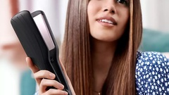 Plancha para cabello PHILIPS HP8325/10 ESSENTIAL. Placas anchas.