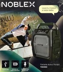 Parlante portátil inalámbrico NOBLEX TSN3000 PARTY SYSTEM AUDIO. Bluetooth. Batería recargable. 3500W
