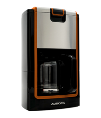 Cafetera 12 tazas 900W negro/acero Aurora UJYANA CM