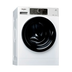 Lavarropas c/frontal 8.5kg  Whirlpool WLCF85BA INVERTER 1400 RPM blanco