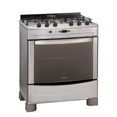 Cocina a gas 76 cm. WHIRLPOOL WF876XG. Acero inoxidable. Grill eléctrico. Quemador Mega. Multigás. EE A