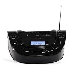 Reproductor portatil DAEWOO DI-0032BK Bluetooth USB con reloj alarma y radio