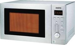 Microondas 28L inox dig. c/grill 900W Sanyo EMGX2814