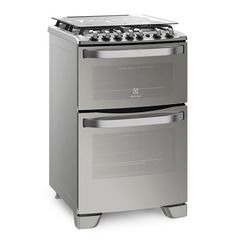 Cocina a gas 56 cm. ELECTROLUX 56DAX Doble horno FULL  Inoxidable Multigás