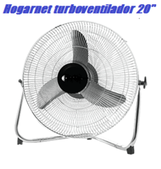 "Turboventilador fijo 20"" HOGARNET T39 Metálico 90W"