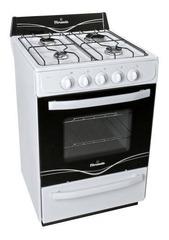 Cocina a gas 56 cm. SINGER FLORENCIA 5516F Blanca Multigás