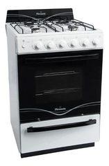 Cocina a gas 56 cm. SINGER FLORENCIA 5536F Blanca C/ Encendido / Luz / Timer Multigás