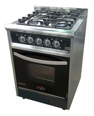 Cocina a gas 55 cm. USMAN BLACK NIGHT 550 Semi industrial Multigás Inoxidable