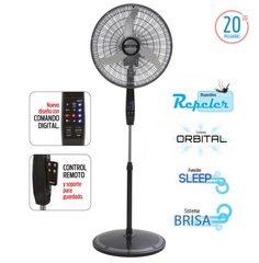 """Ventilador de pie 20"""" LILIANA VPD20R Digital c/Control remoto 90W"""