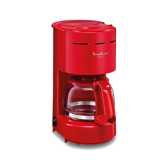 Cafetera eléctrica de filtro MOULINEX CAFE CITY FG320058 Roja 6 pocillos 655W