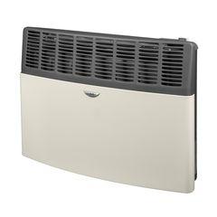 Calefactor a gas Tiro natural 5000 Kcal/h ESKABE S21 TN 5 MF Salida a 4 vientos, color marfil