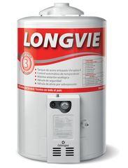 Termotanque a gas 50 lts. de colgar LONGVIE T3050CF Blanco. Conexión Inferior. Multigás