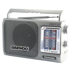Radio portátil AM/FM DAEWOO DMR-114 Con Bluetooth. Conexión dual