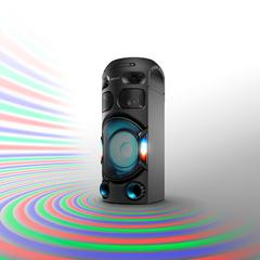 Sistema de audio inalámbrico SONY MHC-V42D Estilo torre. DVD / Bluetooth/ Luces leds / Karaoke. 450W